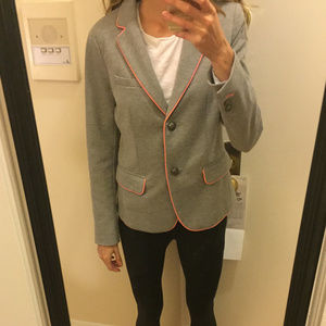 Gray + pink taylored blazer – like new!